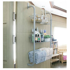 Door Hook 3-Tier Bathroom Living Room Kitchen Door Rack Shelf Storage