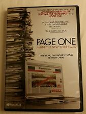 Page One: Inside the New York Times (DVD, 2011)