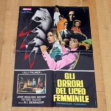 GLI ORRORI DEL LICEO FEMMINILE manifesto poster Lilli Palmer Mulligan Horror