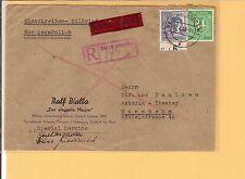 A partir de/im. - nº 936 + 957 en rápido-E. - carta m. r. - stpl. Berchtesgaden a, 84 PF. eckm