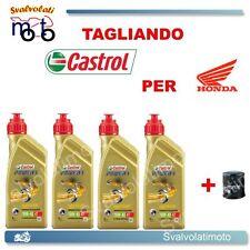 TAGLIANDO FILTRO OLIO + 4L CASTROL POWER1 10W40 HONDA CBR 1000 RR FIREBLADE 05