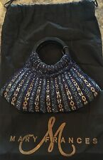 Mary Frances Handmade Beaded Handbag Purse Bag Clutch - NEW