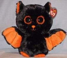 "TY BEANIE BOOS - MIDNIGHT the 9"" BAT - MINT with MINT TAGS (MEDIUM) GLITTER EYES"