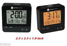 Travel Digital Alarm Snooze Clock Date Temperature Night Light Calendar Radio