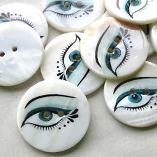 New 12pcs Shell Buttons 30mm EYE Sewing Craft Mix Lots Wholesales T0769