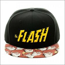 DC Comics The Flash Halftone Black Original Snapback Baseball Cap Hat LICENSED