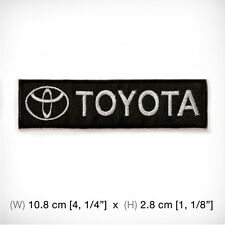 new TOYOTA EMBROIDERED PATCH IRON ON OR SEW MOTOR SPORTS RACING TEAM SPEED COOL