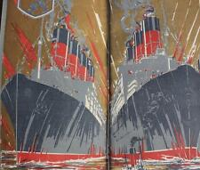 CUNARD LINE RMS AQUITANIA MAURETANIA BRITISH EMPIRE EXHIBITION BROCHURE  1924