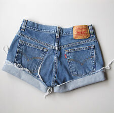 Levi's 505 Cut Off Jean Shorts Denim Boyfriend 7 Blue 29""