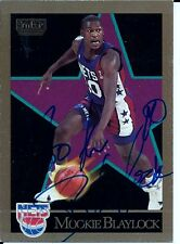 Autographed Mookie Blaylock New Jersey Nets 1990-91 Sky Box Basketball Card #176