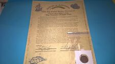 Australian seller/THE TREASURE OF GALLE FORT 1786 COIN with COA (Gold overprint)