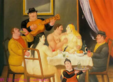 "Art Repro oil painting:""Fernando Botero Portrait at canvas"" 24x36 Inch #045"