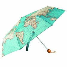 Vintage Map Design Umbrella - Blue Map Nylon Umbrella, complete with storage cov