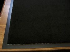 "2-New front entry door floor mats plush carpet  commercial 24""x36""  black"