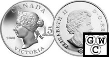 2008 Vignettes of Royalty 'Victoria' Proof $15 Silver (12240)