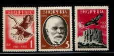 ALBANIA 50 Years of Independence MNH set