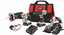 PORTER-CABLE 4-Tool Cordless Combo Kit Soft Case 20-Volt Max Li-Ion PCCK616L4