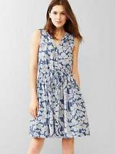 NEW GAP FLORAL HIBISCUS FIT & FLARE DRESS 6 TALL