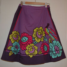 6 Anthropologie Applique Bird of Paradise Skirt Very Rare