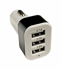 Car Universal 12V 24V To 5V 3 Port USB Charger Adapter For Tablets/ Smart Phones