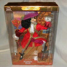 DISNEY PETER PAN *CAPTAIN HOOK* 1ST MASTERS OF MALICE DOLL LIMITED EDITION MIB