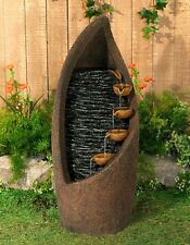 Outdoor Water Fountains Indoor Cascading Patio Garden Modern Floor Southwestern
