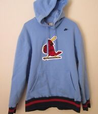 Nike St. Louis Cardinals Cooperstown Collection Baby Blue Hoodie Men's XL