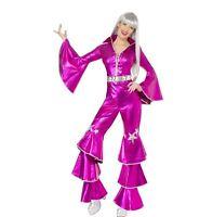 NEW Ladies Dancing Dream 70s 60s Smiffy's Fancy Dress Costume Abba Queen