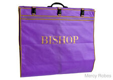 Bishop Vestment Carrying Bag, Purple-Gold, 74 Inches Long, Clergy Robe Bag