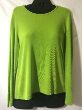 Chico's MARKET BY CHICO LIME  BLOUSE sz 1 EUC BUST 40""