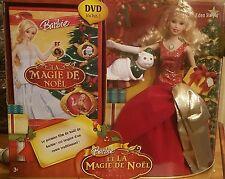 Barbie giftset Barbie et la Magie de Noël 2008 Nrfb superbe +DVD !!