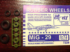 1:72 ELF #7229 Mikoyan MiG-29  Rubber wheels with protector and plastic set USSR