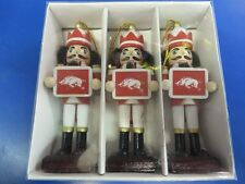 Arkansas Razorbacks NCAA Christmas Decor Gift Wooden Nutcracker Ornaments - Sign