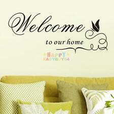 Welcome to our home Butterfly Removable Vinyl Decal Wall Sticker Home Decor