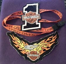 Harley Davidson Motorcycle Patches and Lanyard Authentic Licensed Collectibles