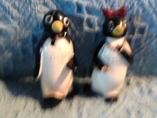 "NEW FITZ AND FLOYD ""KOOL"" PLASTIC ""WILLIE & MILLIE"" PENGUIN SALT & PEPPER SET"