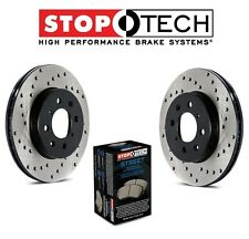 Mercedes CL55 AMG W215 W220 Front StopTech Drilled Brake Rotors Street Pads Kit