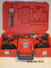Milwaukee  0824-24P Hammer Drill/Impact Driver, 2 Batteries, Charger&Case-REFURB