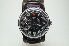 GERMAN PILOT OBSERVER WATCH B-UHR TYPE WW2 VINTAGE SERVICED WORKING w STRAP