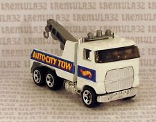 5 SPOKE PACK EXCLUSIVE AUTO-CITY RIG WRECKER TOW TRUCK WHITE RARE HOT WHEELS