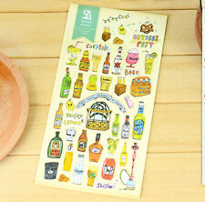 Beer Alcohol Spirit Wine Whisky Sticker Scrapbook card DIY gift Diary Sweet