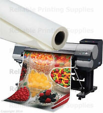 "SHIPPED FREE - Poly-Vinyl Banner roll Waterproof - 36"" x100FT -Inkjet printing"