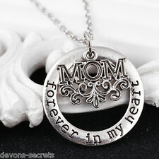 Ladies forever in my heart mum mom slogan fashion new set necklace jewellery CH5