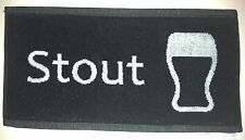 SALE! - Beer/Pub Towel - 100% Cotton Woven Bar Towel - White on Black - NEW