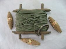 Fishing Hand Line Old Wood, RARE Cork Bobbers Antique Vintage