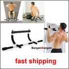 Portable upper body gym workout exercise door pull chin up pullup iron bar ABS