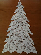 "Heritage Lace ""White"" Christmas Tree Window Decor 23 inches Long  (483)"