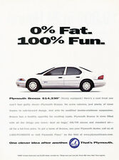 1997 Plymouth Breeze Sedan - Original Advertisement Car Print Ad J313