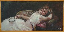 "Jose Royo ""El Collar Rosa"" 2012 Mixed Media w/ Serigraphy on Board, #46/150, NEW"