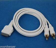 3ft 1M LINE OUT audio RCA cable for iPad 3 2 iPhone 4S 4 iPod Touch Nano Classic